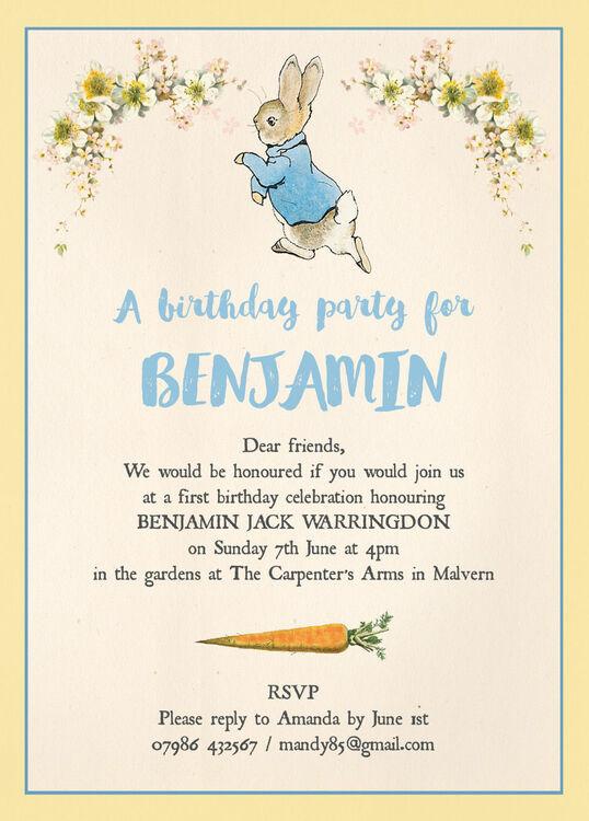 Peter Rabbit Invitations for beautiful invitation example