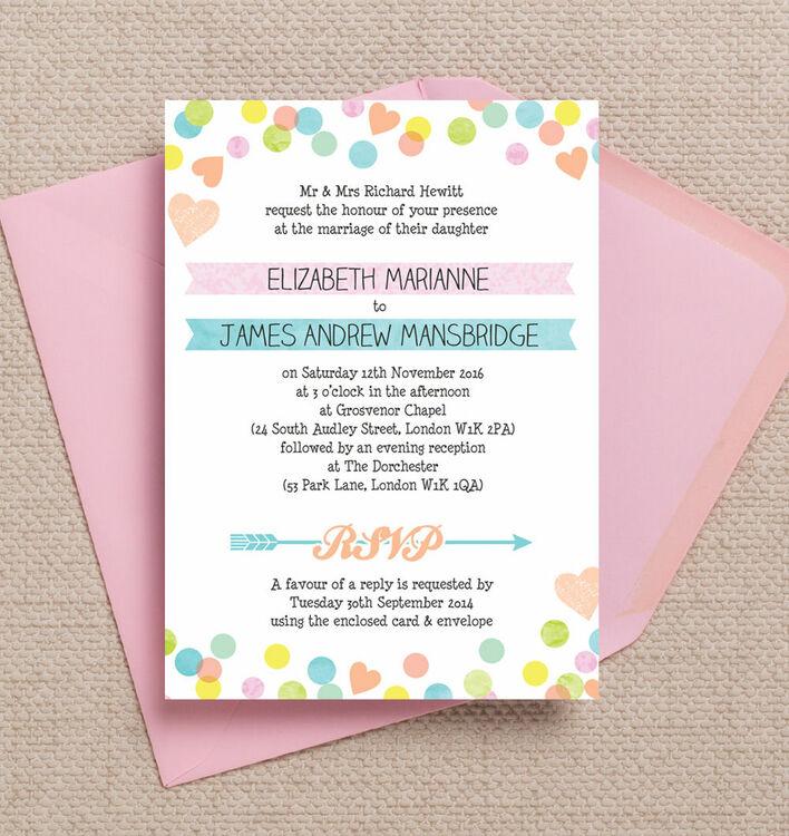 candy wedding invitations   Wedding