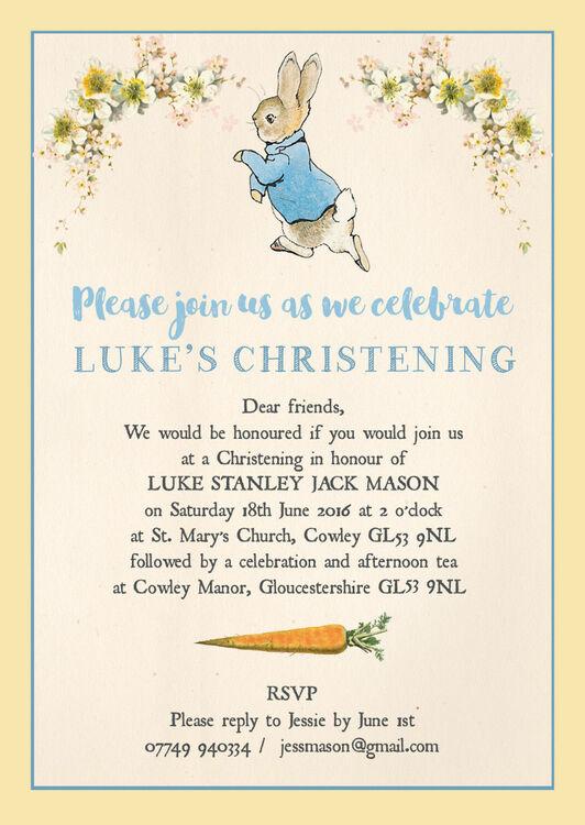 Beatrix Potter Peter Rabbit Baby Shower Invitations Futureclim Info
