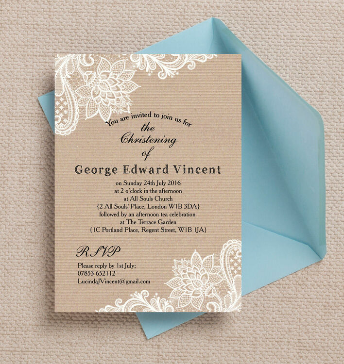 how to make christening invitations at home