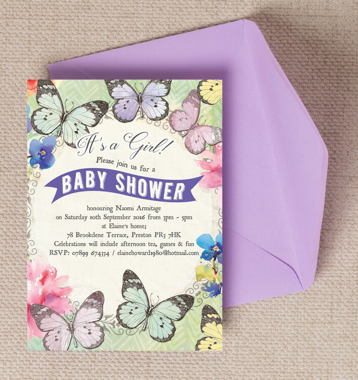 baby shower invitations butterfly garden baby shower invitation