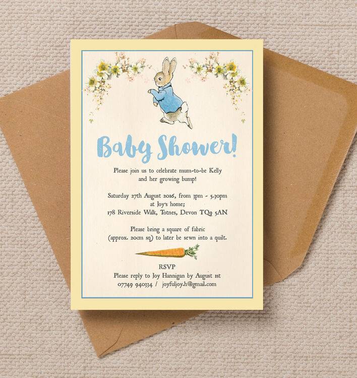 beatrix potter peter rabbit baby shower invitations, Baby shower