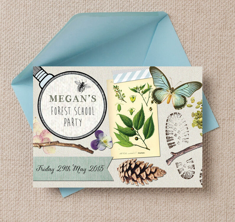 Forest School / Nature Trail Party Invitation from £0.80 each