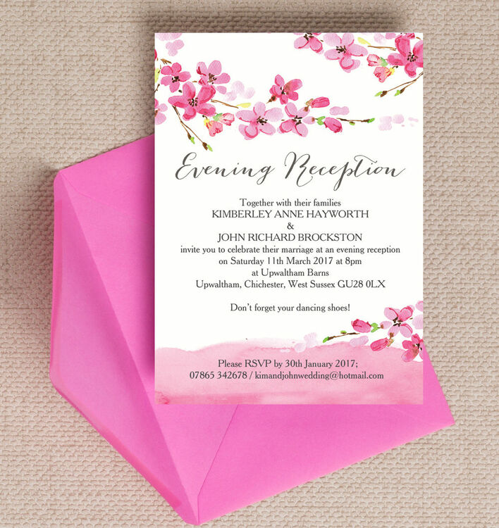 Scroll Type Wedding Invitations with perfect invitation layout
