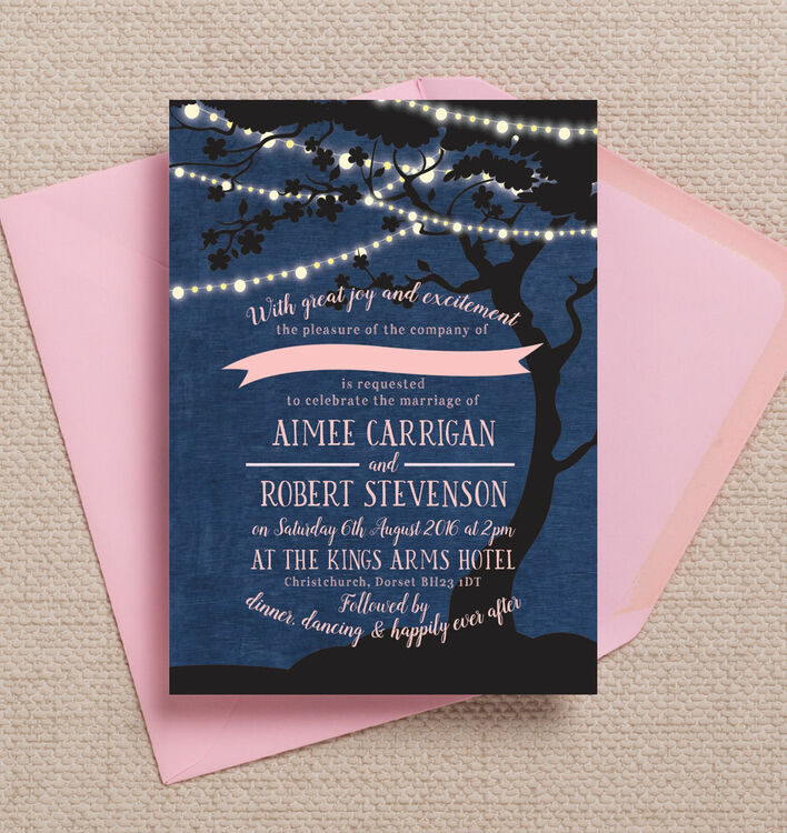 John Lewis Wedding Gift List Contact : Home Wedding Pre Wedding Invitations Enchanted Fairy Lights Wedding ...
