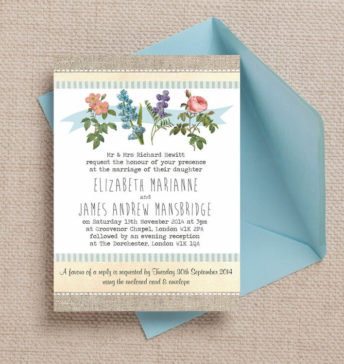 Botanical Wedding Invitations could be nice ideas for your invitation template
