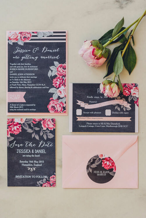 Rustic Floral Wedding Invitation From 163 1 00 Each