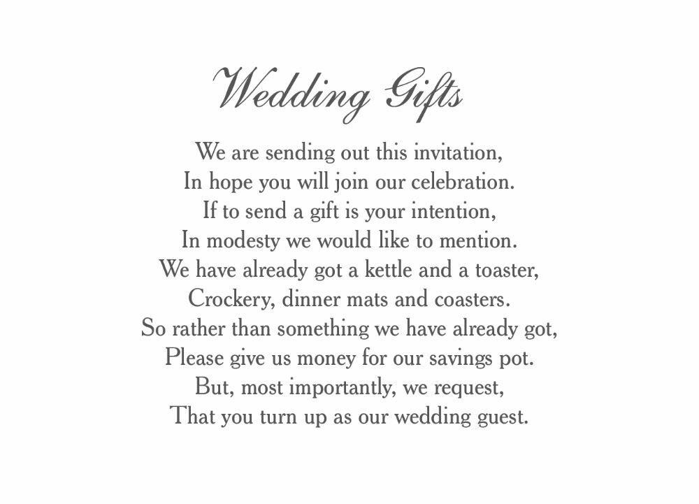 Honeymoon Wedding Gift List Uk : Home Wedding Pre Wedding Gift Poem Cards Classic Wedding Gift Wish ...