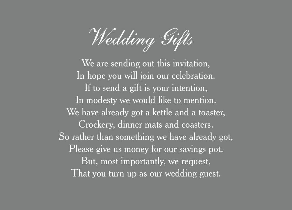 Wedding Gift Poem From Guest : Home Wedding Pre Wedding Gift Poem Cards Classic Wedding Gift Wish ...