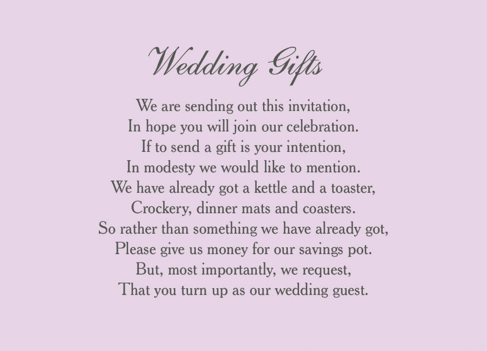 Wedding Gift Poem Template : Home Wedding Pre Wedding Gift Poem Cards Classic Wedding Gift Wish ...