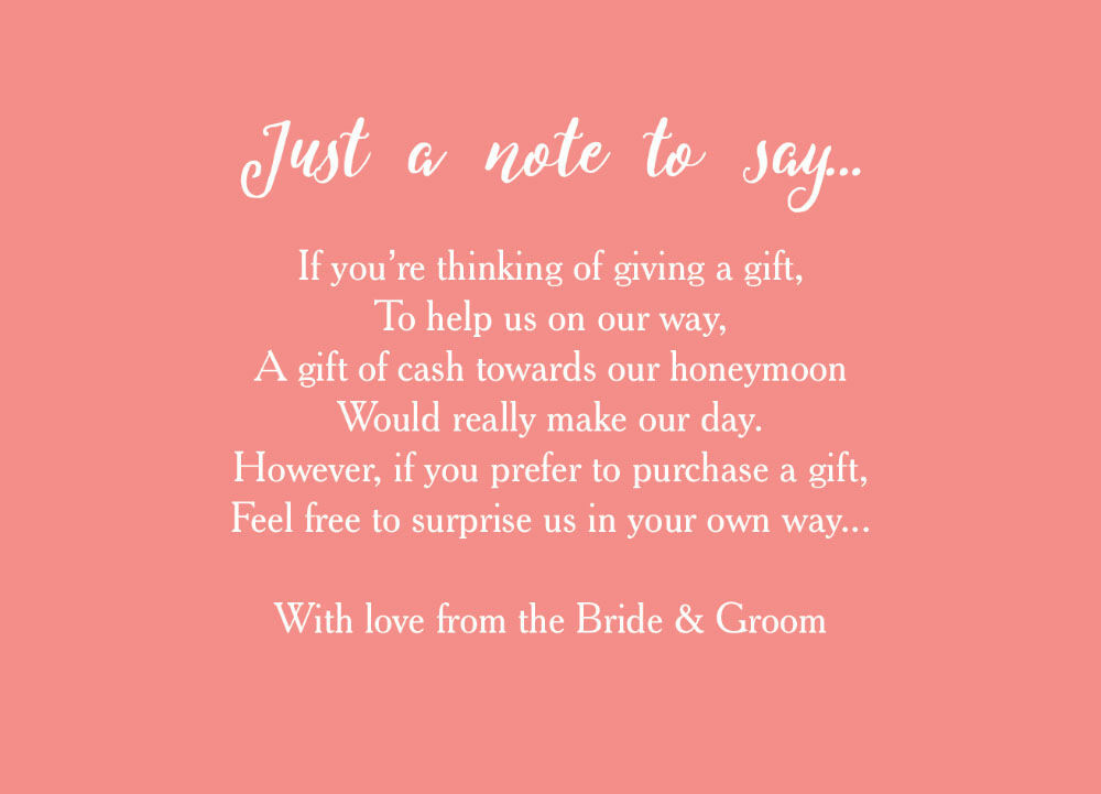 Wedding Gift Poems For Honeymoon : Home Wedding Pre Wedding Gift Poem Cards Calligraphy Wedding Gift Wish ...