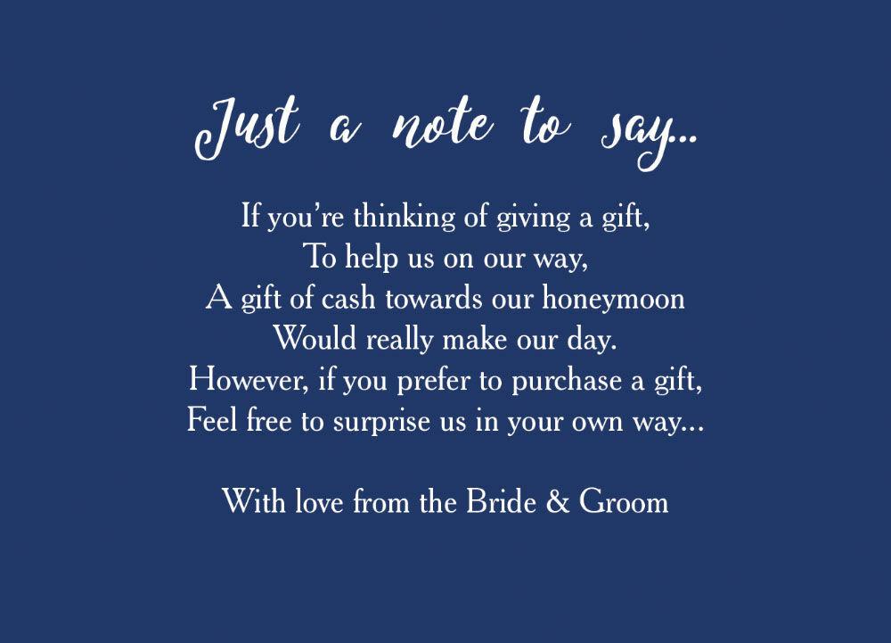 Home Wedding Pre Wedding Gift Poem Cards Calligraphy Wedding Gift Wish ...