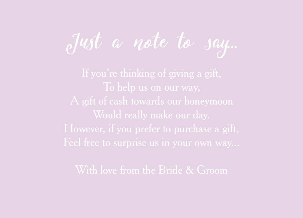 Poem For Wedding Invitation Gifts - Wedding Invitation Sample