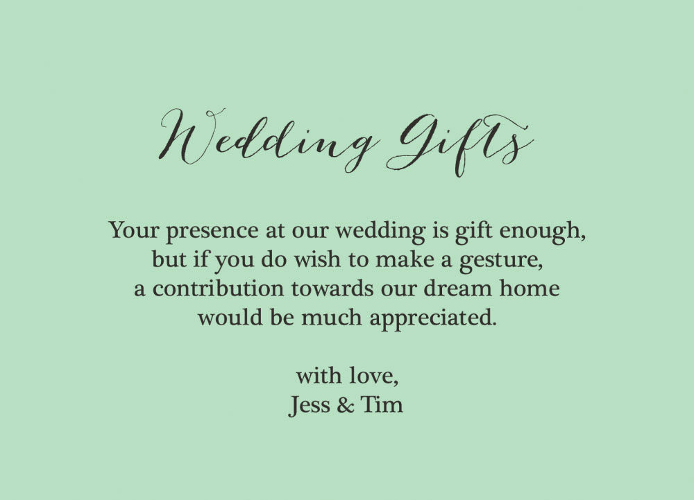 Wedding Gift Wish Poem : Home Wedding Pre Wedding Gift Poem Cards Rustic Wedding Gift Wish Card