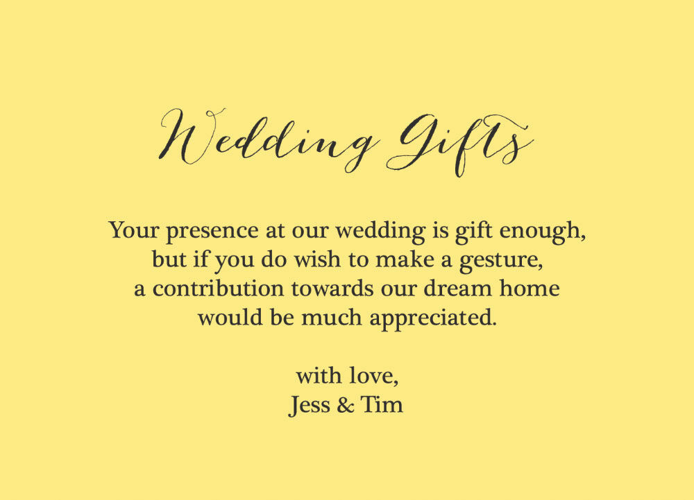 How Much To Give As Wedding Gift Cash: Rustic Wedding Gift Wish Card From £0.40 Each