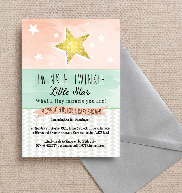 baby kids kids invitations baby shower invitations twinkle star baby