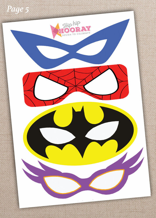 Luscious image in free printable superhero photo booth props