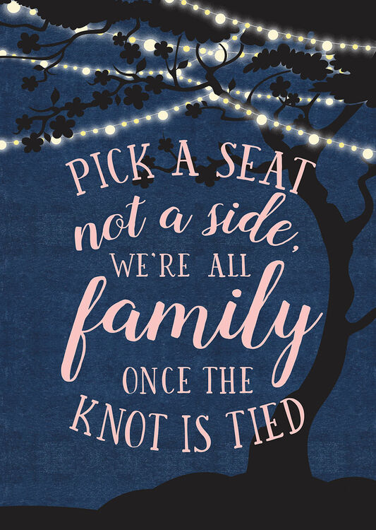 Enchanted Fairy Lights Pick A Seat Not A Side Poster From