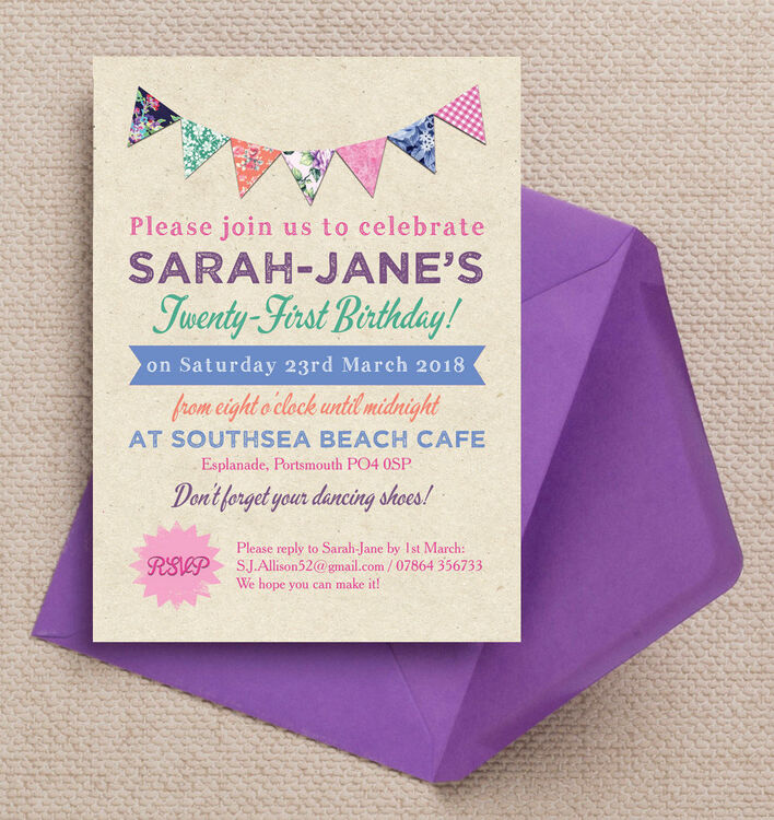 21st party invitations