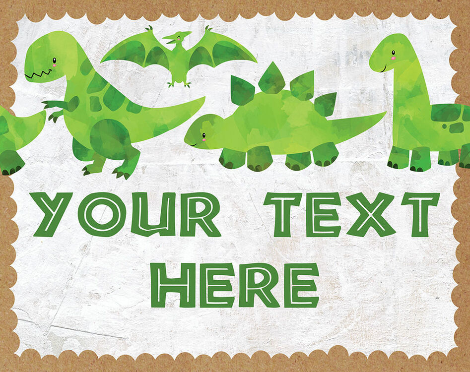 dinosaur party sign    poster from  u00a34 00 each