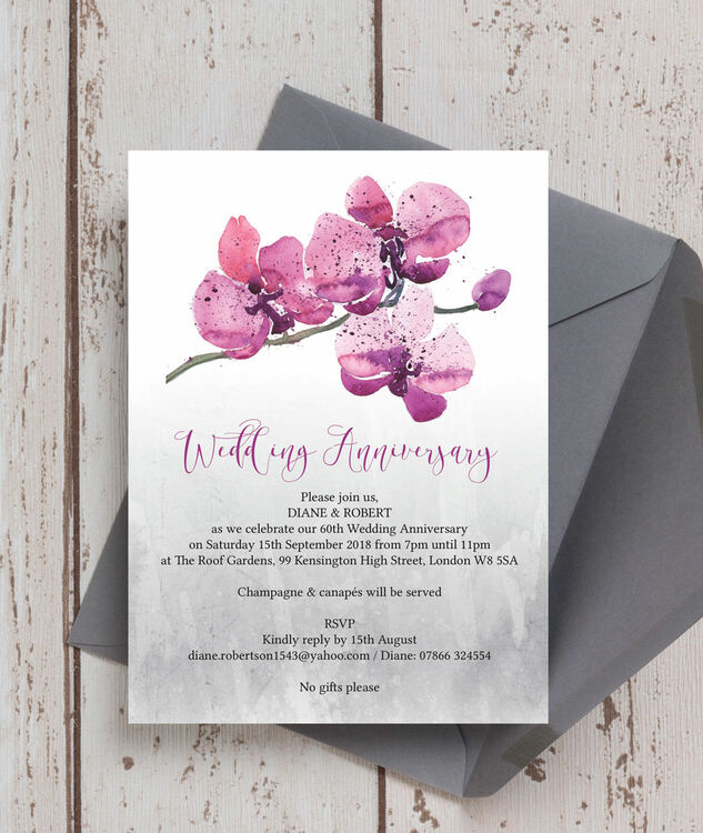 Gifts For 60th Wedding Anniversary: Orchid Flower 60th / Diamond Wedding Anniversary