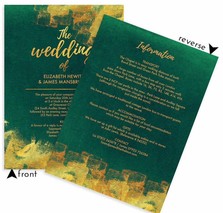 emerald green wedding invitation - 28 images - 104 best emerald ...