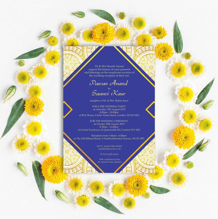 Asian Scroll Wedding Invitations Uk | Wedding Invitation