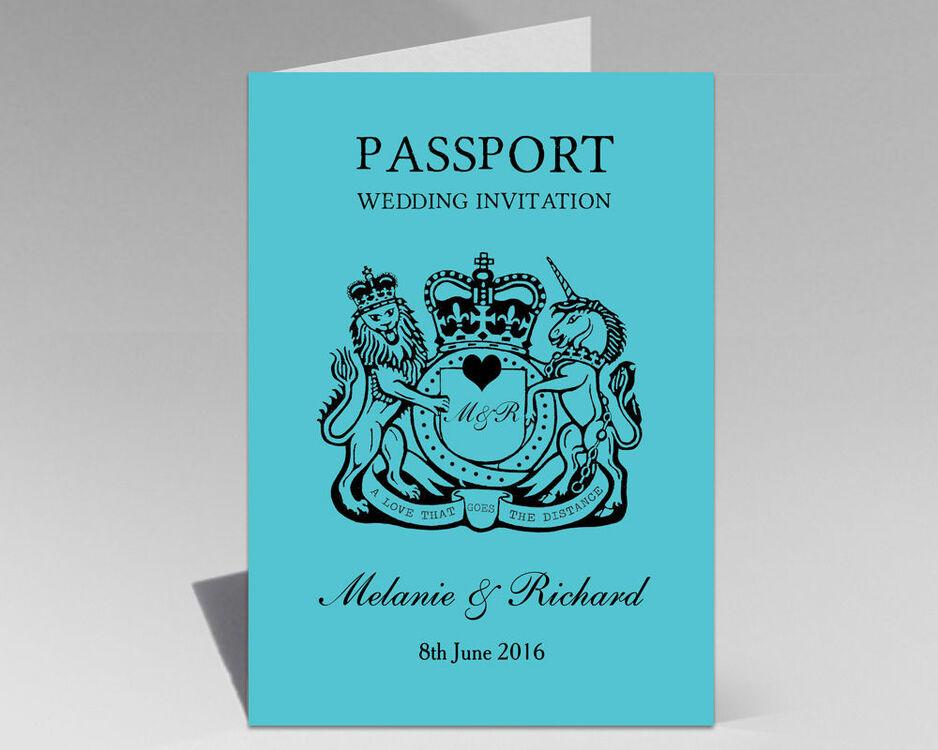 Passport Travel Themed Wedding Invitation from £1.00 each