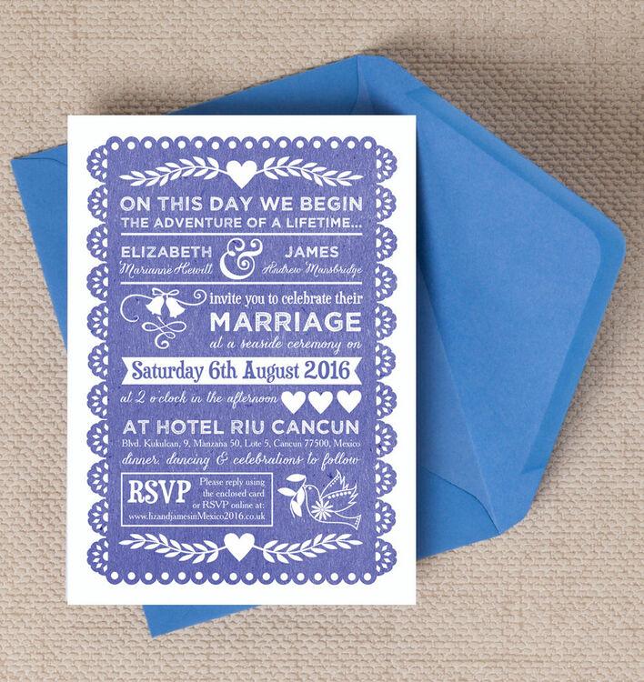 mexican inspired papel picado wedding invitation additional 2 - Papel Picado Wedding Invitations