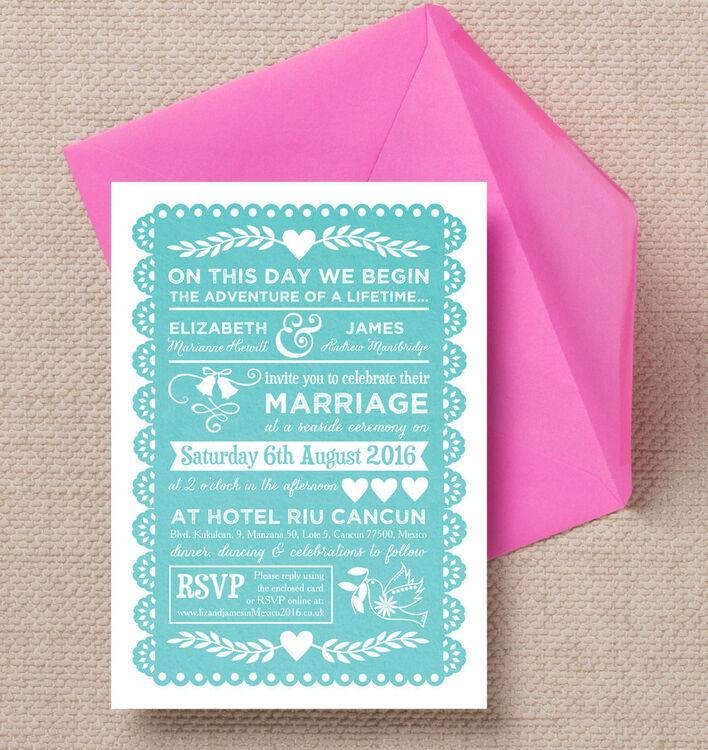 mexican inspired papel picado wedding invitation additional 3 - Papel Picado Wedding Invitations