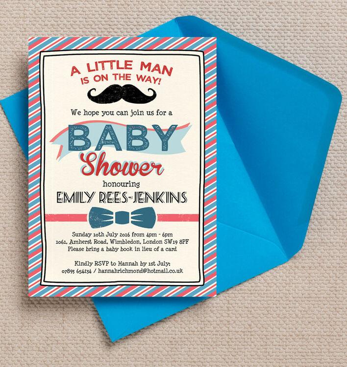 Little Man Baby Shower Invitation Additional 1 ...