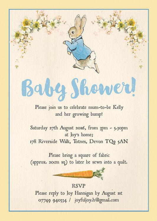 Lovely ... Peter Rabbit Baby Shower Invitation Additional 3