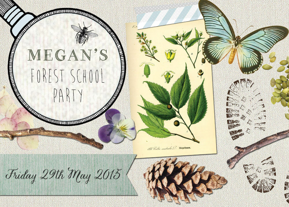 forest school    nature trail party invitation from  u00a30 80 each
