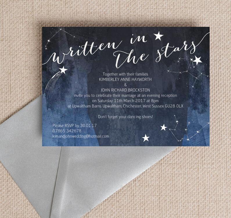 Midnight Stars Evening Reception Invitation Additional 1