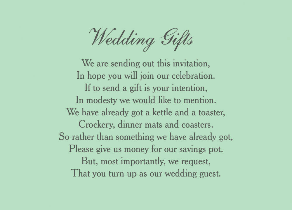 Wedding Invitation Wording For Monetary Gifts: Classic Wedding Gift Wish Card From £0.40 Each