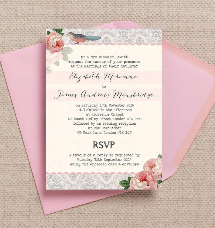 Sweet Vintage Wedding Invitation Additional 1