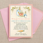 Flopsy Bunnies Beatrix Potter Christening / Baptism Invitation additional 3