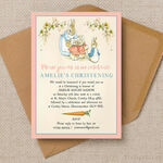 Flopsy Bunnies Beatrix Potter Christening / Baptism Invitation additional 1