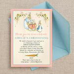 Flopsy Bunnies Beatrix Potter Christening / Baptism Invitation additional 2