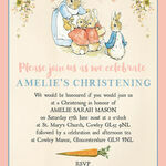 Flopsy Bunnies Beatrix Potter Christening / Baptism Invitation additional 4