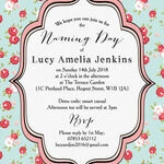 Vintage Rose Naming Ceremony Day Invitation additional 2