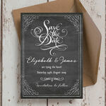 Chalkboard Save the Date additional 1