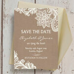 Rustic Lace Save the Date additional 4