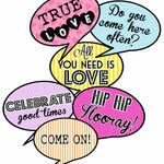 Printable Speech Bubble Slogan Props additional 1