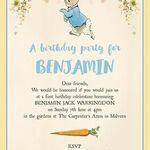Beatrix Potter Peter Rabbit Party Invitation additional 4