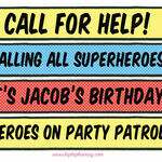 Personalised Comic Book Superhero Party Signs additional 1