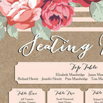 Rustic Floral Wedding Seating Plan additional 3