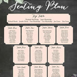 Rustic Floral Wedding Seating Plan additional 2