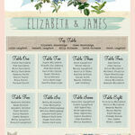 Rustic Botanical Wedding Seating Plan additional 2