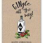 'Gingle all the way' Personalised Christmas Cards additional 2